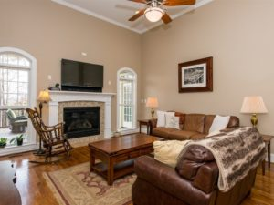 Hillman Real Estate Group: Ample living space and a beautiful wooded view await in Wake Forest