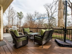 Hillman Real Estate Group: Relax on this stunning patio and enjoy the Wake Forest view