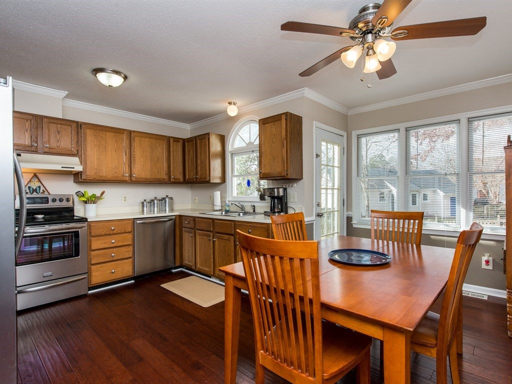 Updated kitchen and dining area with ample natural light