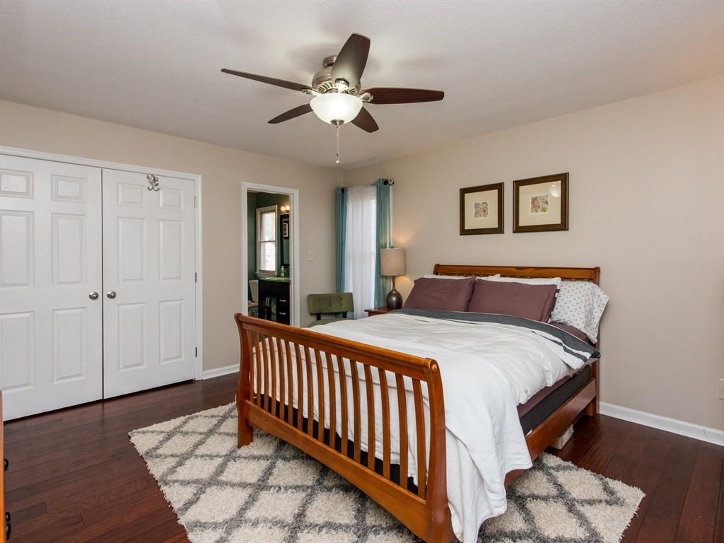 Master bedroom with private bath and generous closet