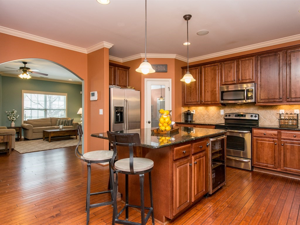 You'll love the upgraded kitchen amenities in this Morrisville home!