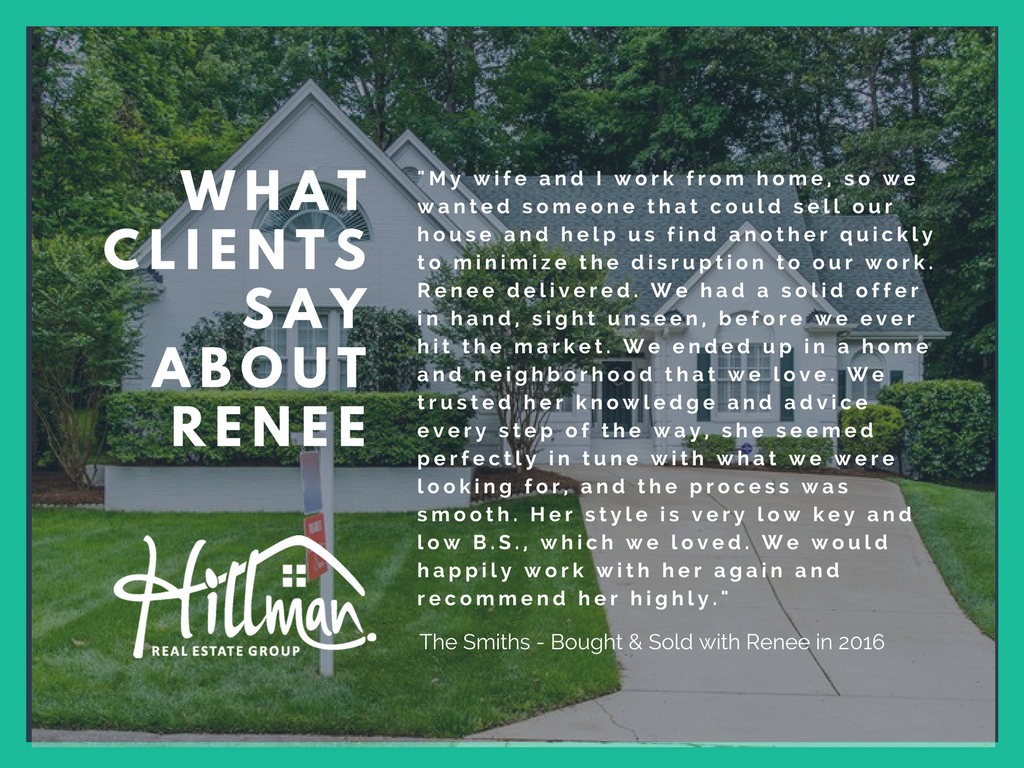 Renee Hillman & Hillman Real Estate Group Review - The Smith Family - Raleigh, NC