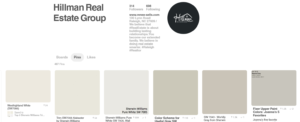 See the top Sherwin-Williams paint colors on our Hillman Real Estate Group Pinterest page!