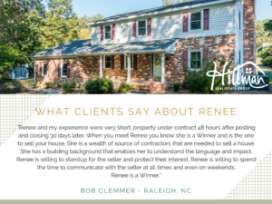 Renee Hillman real estate broker review