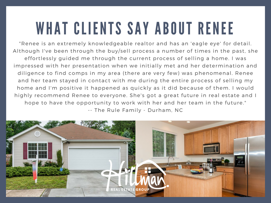 Reviews of Hillman Real Estate Group and Renee Hillman real estate agent