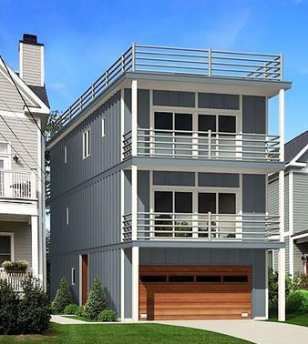 New construction home rendering in Downtown Raleigh