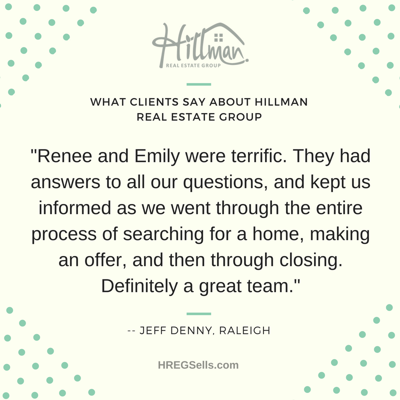 Five-Star Review of Hillman Real Estate Group - Renee Hillman and Emily Link