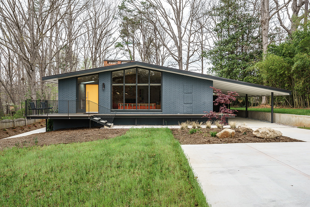 hillman real estate group - raleigh modernist home for sale - 001_Main Exterior - Ocotea