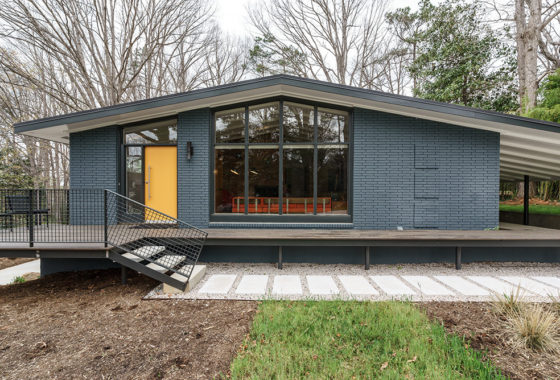 hillman real estate group - raleigh modernist home for sale - 003_Front Elevation - Ocotea