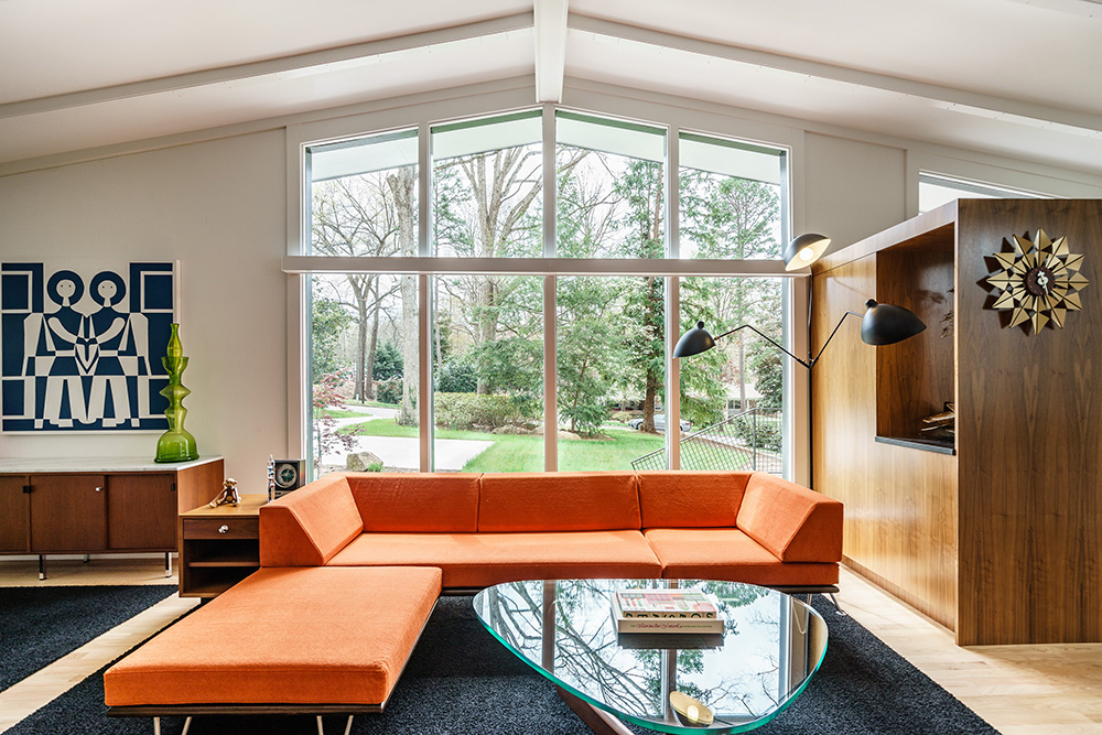 hillman real estate group - raleigh modernist home for sale - 010_Living Room - Ocotea