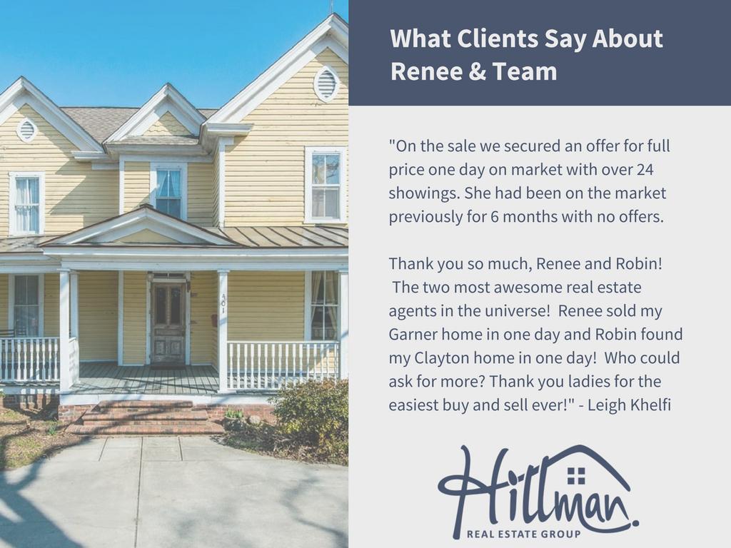 Renee Hillman real estate broker review