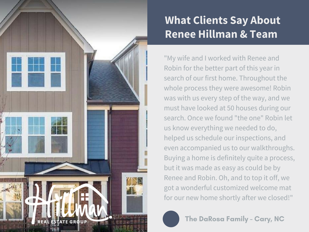 Renee Hillman realtor review - Cary, NC - Hillman Real Estate Group