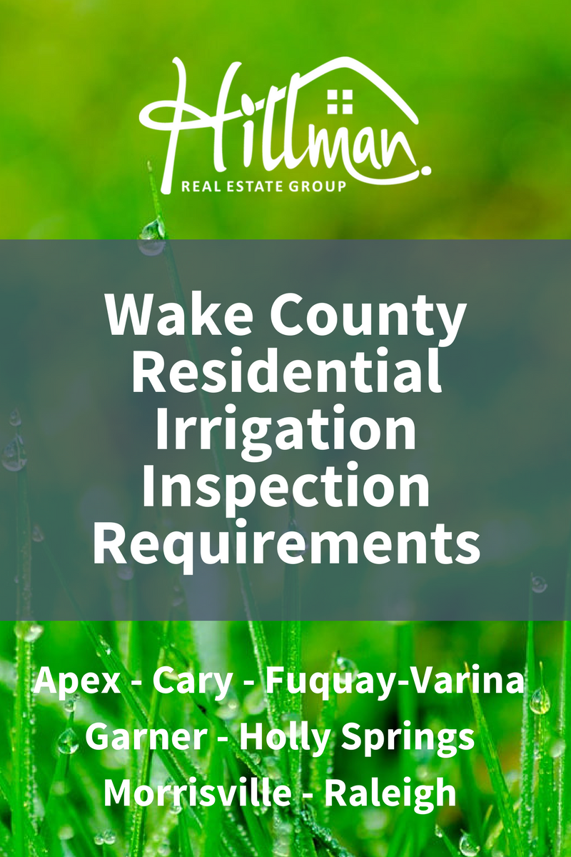 Irrigation system inspections in Raleigh, Garner, Cary, Morrisville, Fuquay, Apex, and Holly Springs