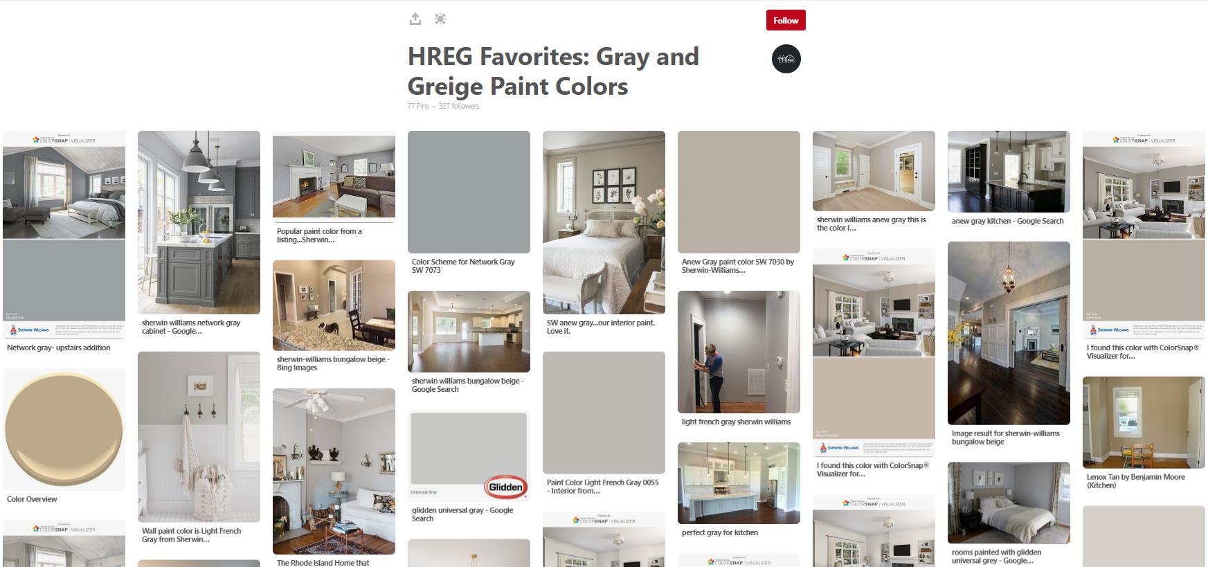 Hreg Favorites Gray Greige Paint Colors Hillman Real Estate Group