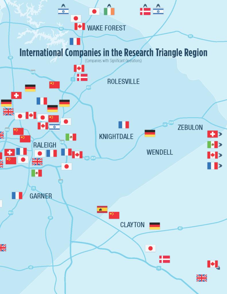 International Companies in Wake County