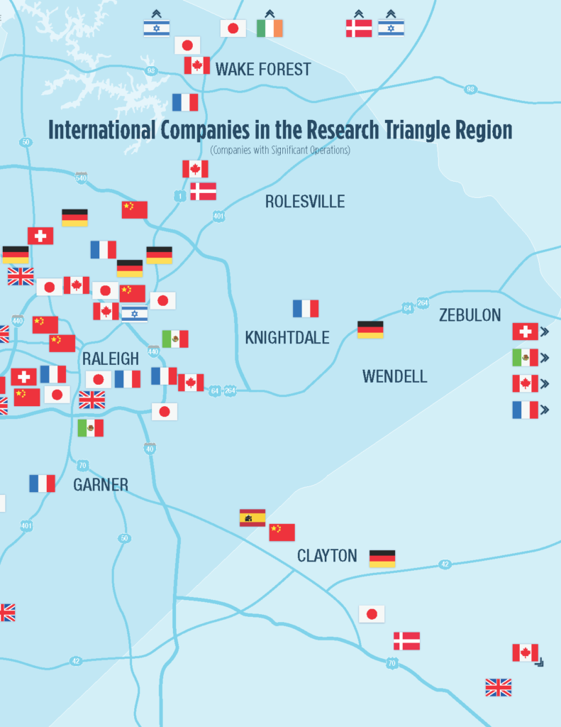 International Companies in Wake County