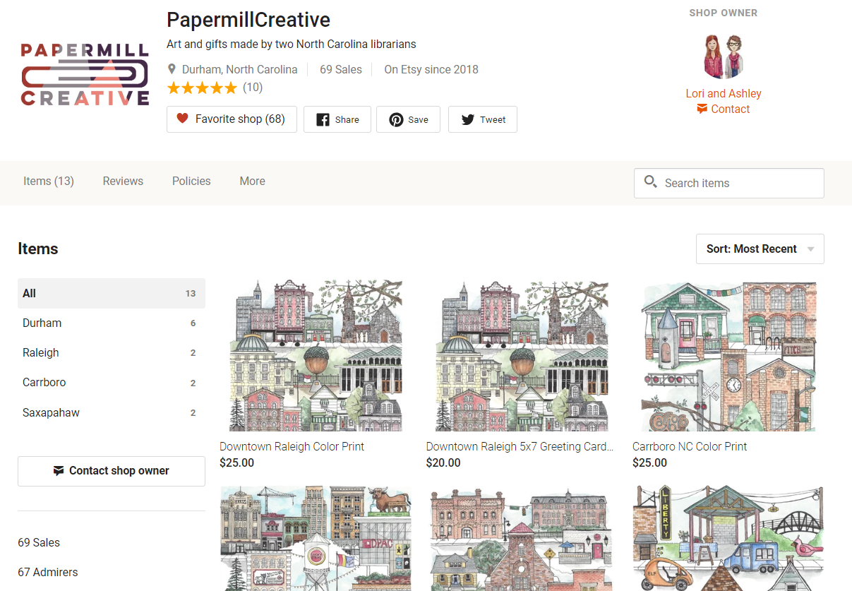Papermill Creative on Etsy