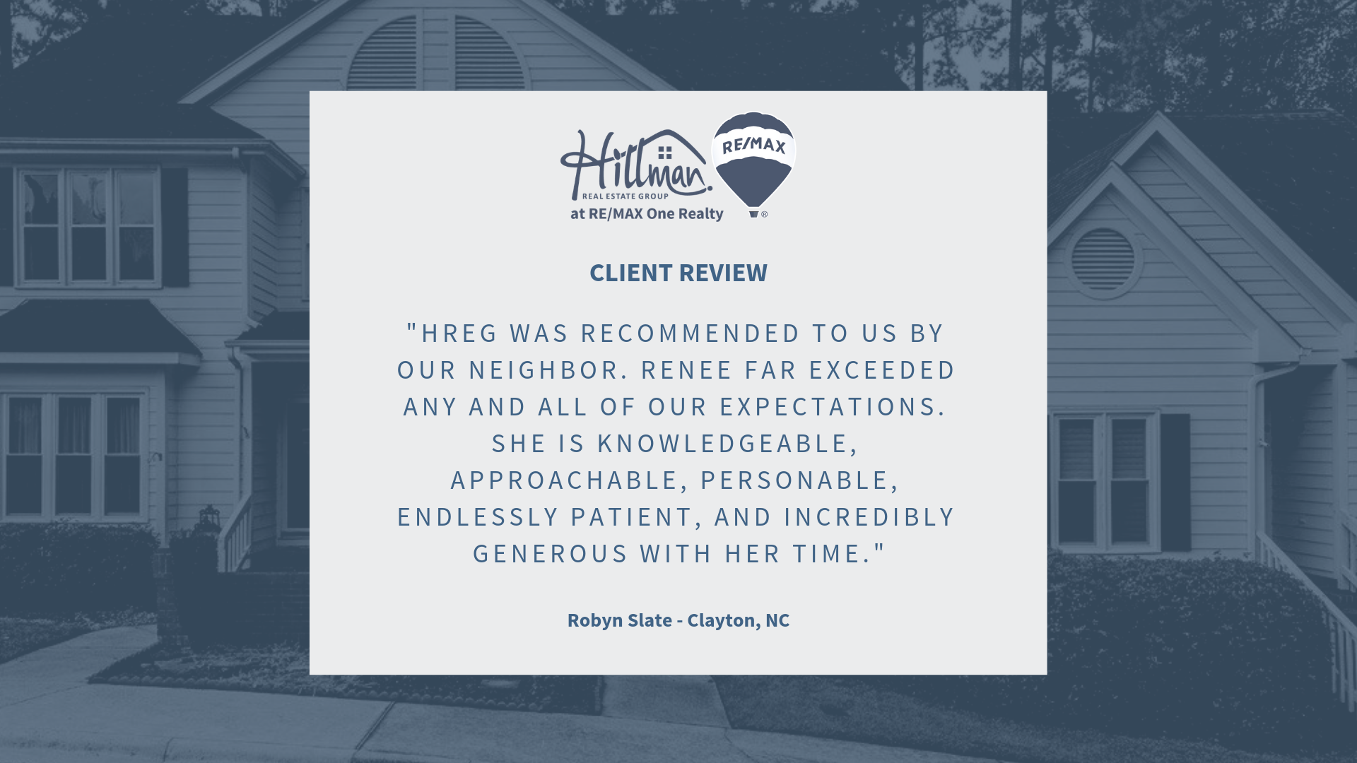 Review for Hillman Real Estate Group Renee Hillman Raleigh realtor