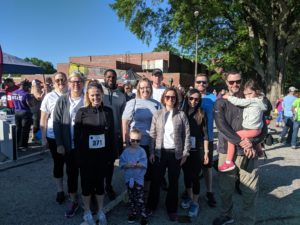 Team HREG at Note in the Pocket Rundie 5K 2019 at Dix Park in Raleigh