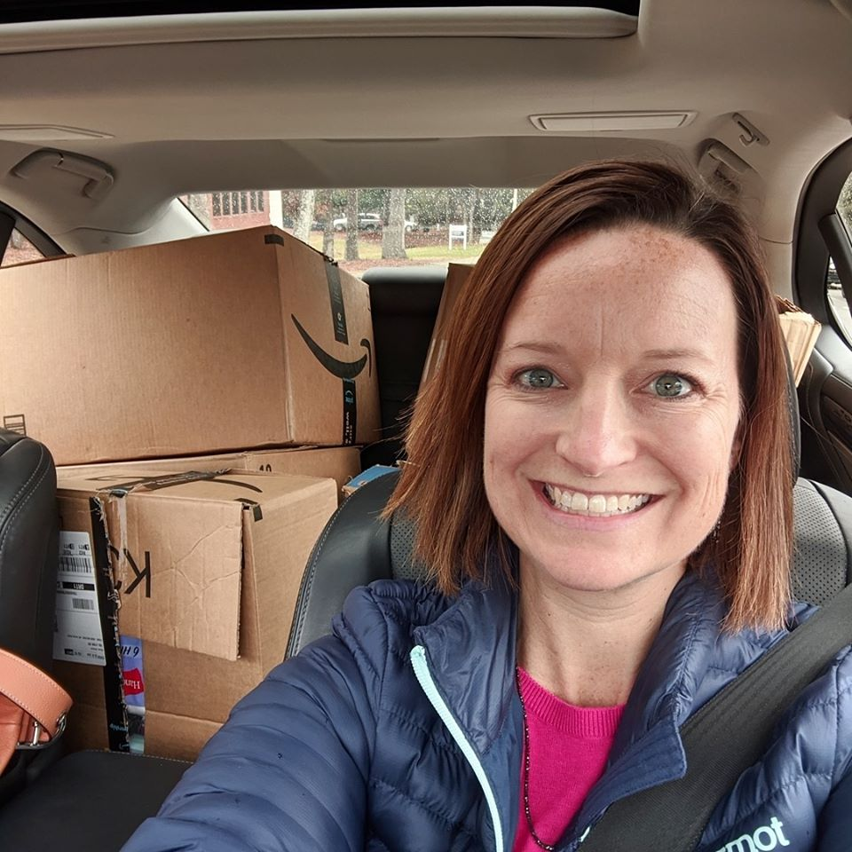 HREG Renee Hillman Delivering Donations to Note in the Pocket