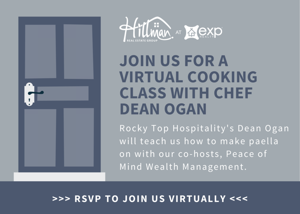 Hillman Real Estate Group Virtual Dinner Party with Peace of Mind Wealth Management