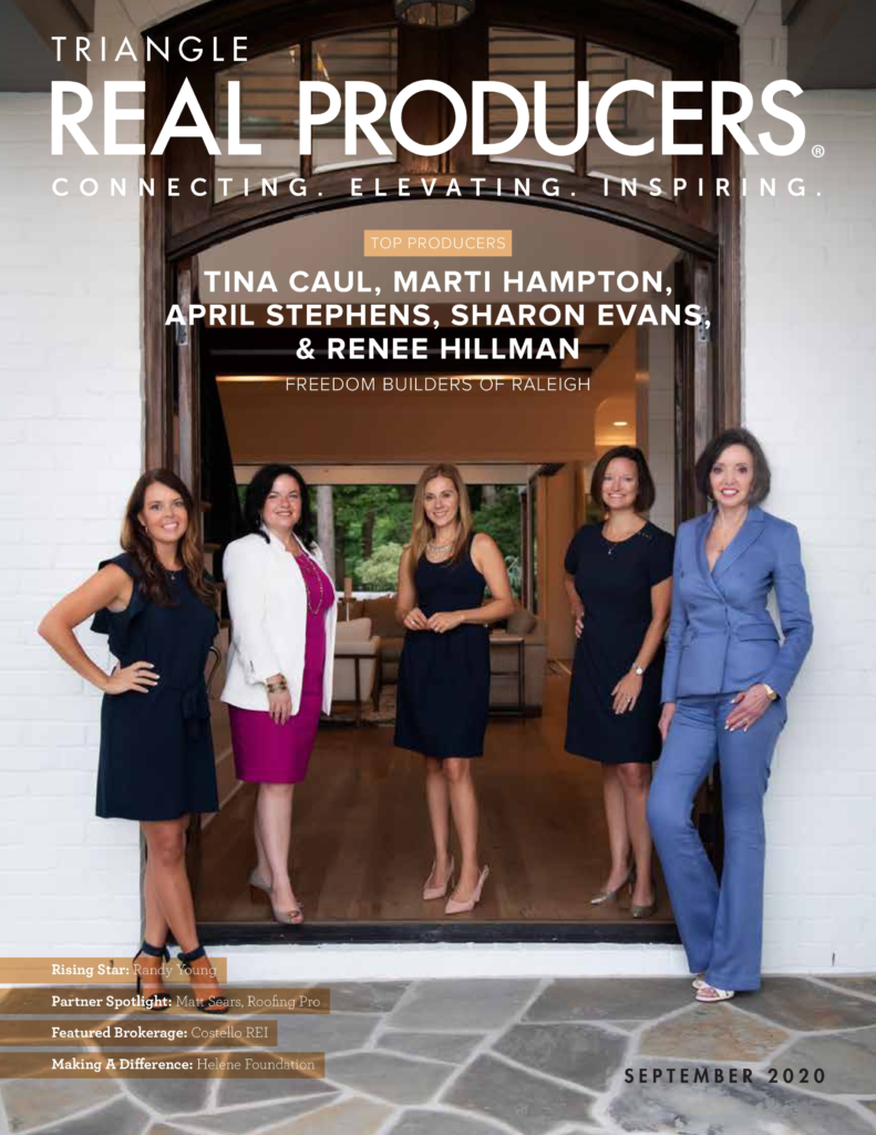 Hillman Real Estate Group's Renee Hillman Featured in Triangle Real Producers Magazine - Cover