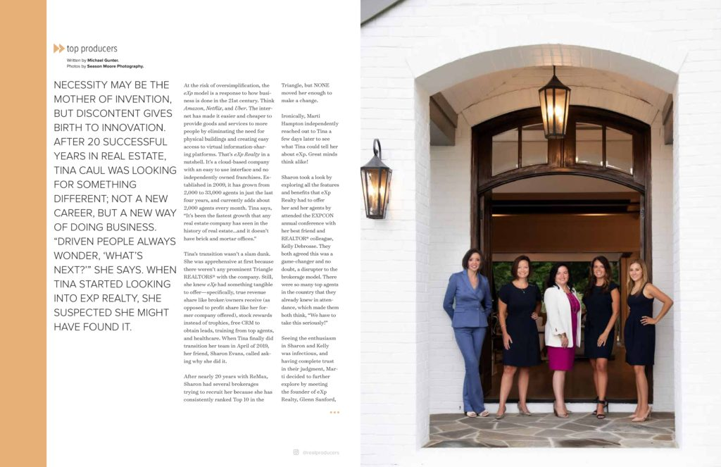Hillman Real Estate Group's Renee Hillman Featured in Triangle Real Producers Magazine - Inside 02