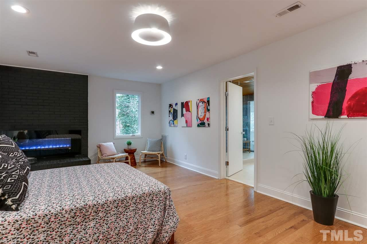 3200 Doubleday Place - Modernist Home of the Month at Hillman Real Estate Group Fireplace in Bedroom