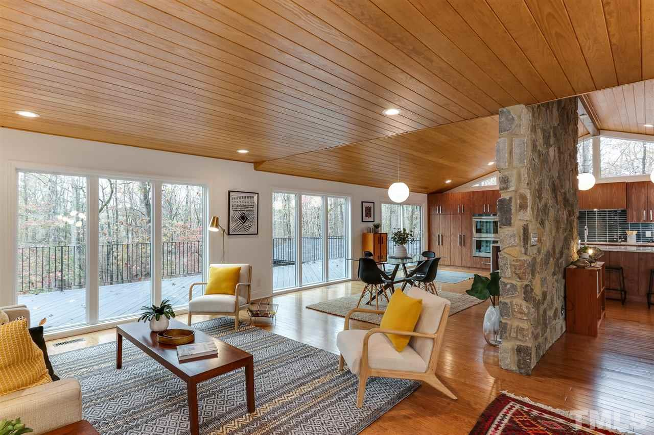 3200 Doubleday Place - Modernist Home of the Month at Hillman Real Estate Group Living Area and Patio
