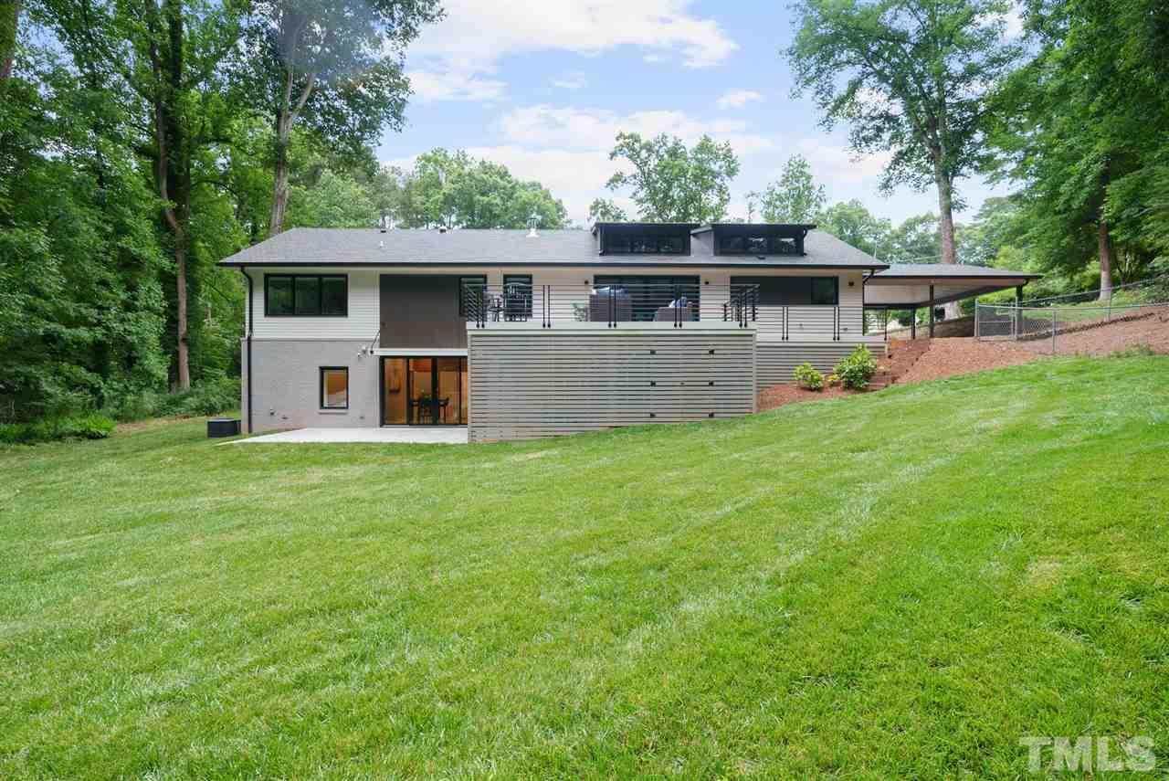 Hillman Real Estate Group's Modernist Home of the Month- 5406 Parkwood Drive Raleigh Back of House