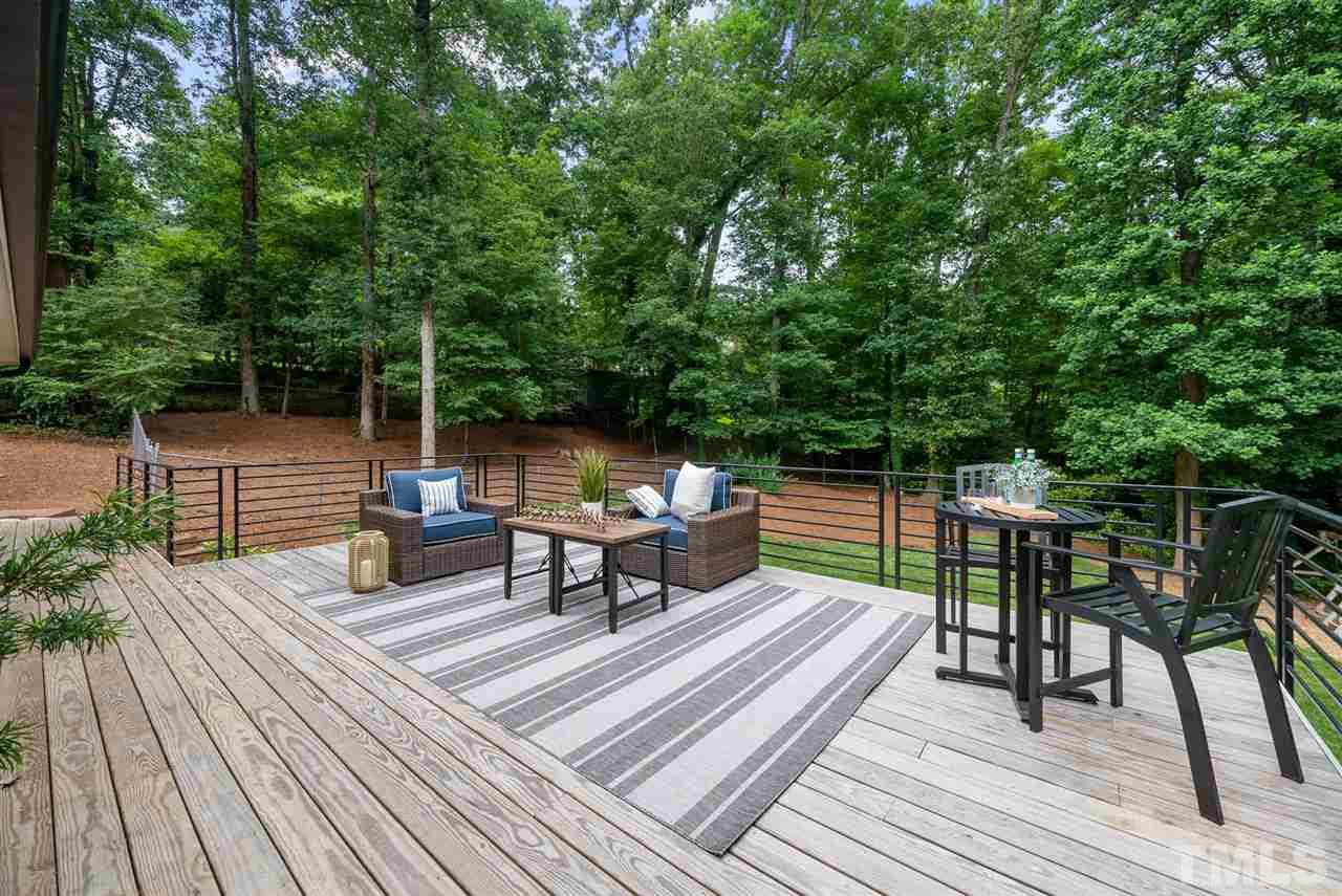 Hillman Real Estate Group's Modernist Home of the Month- 5406 Parkwood Drive Raleigh Backyard