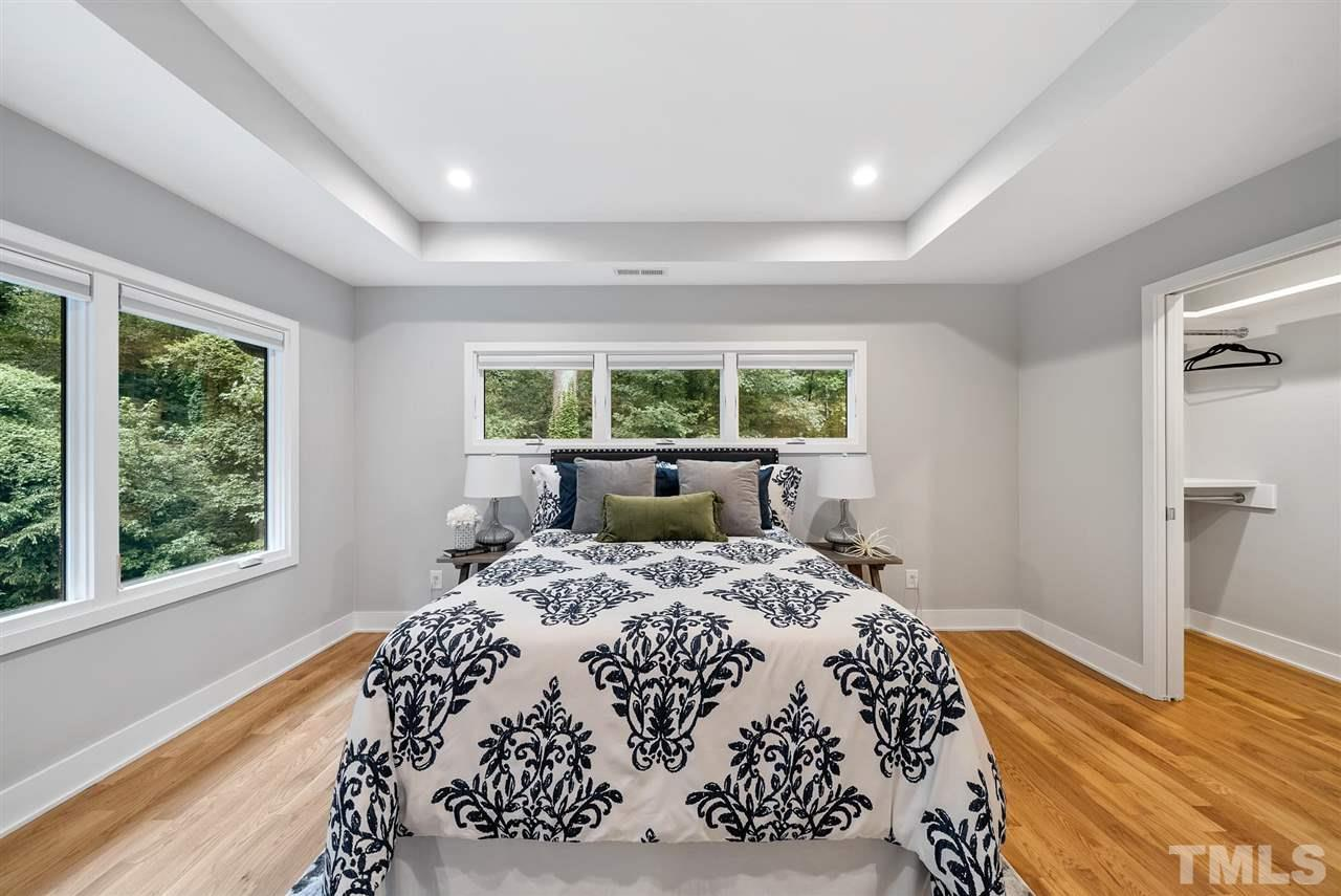 Hillman Real Estate Group's Modernist Home of the Month- 5406 Parkwood Drive Raleigh Bedroom