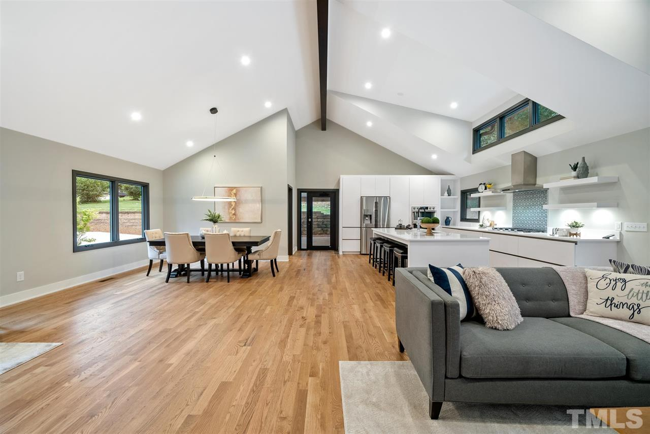 Hillman Real Estate Group's Modernist Home of the Month- 5406 Parkwood Drive Raleigh Dining and Kitchen