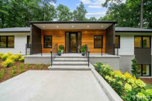Hillman Real Estate Group's Modernist Home of the Month- 5406 Parkwood Drive Raleigh Front of House