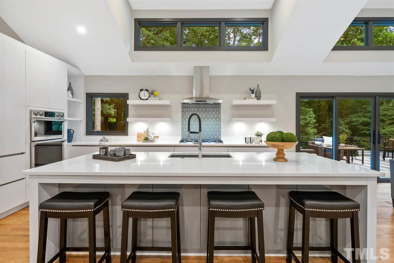 Hillman Real Estate Group's Modernist Home of the Month- 5406 Parkwood Drive Raleigh Kitchen