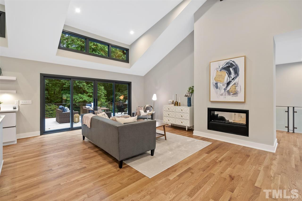 Hillman Real Estate Group's Modernist Home of the Month- 5406 Parkwood Drive Raleigh Living Room Windows